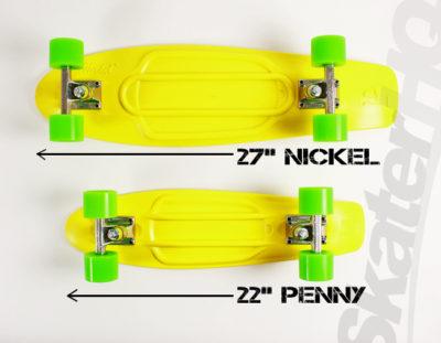 La differenza tra il pennyboard da 22 pollici e quello da 27.
